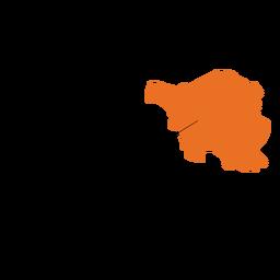 Mapa del estado de Saarland