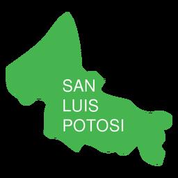 San Luis Potosi State Karte