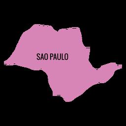 Mapa del estado de sao paulo