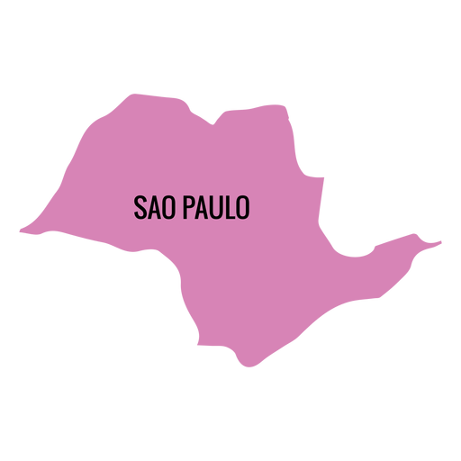 Sao paulo state map Transparent PNG