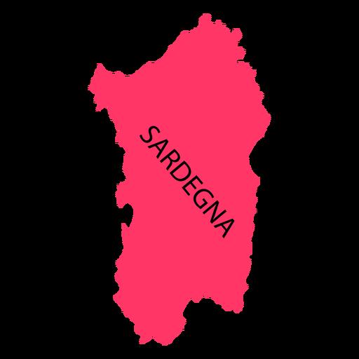 Mapa de la región de Cerdeña Transparent PNG