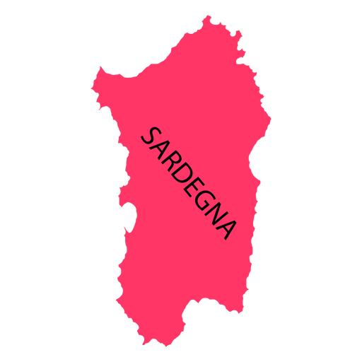 Sardinia region map Transparent PNG