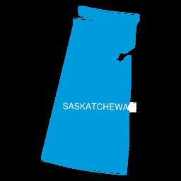 Mapa da província de Saskatchewan