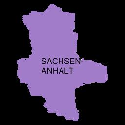 Mapa del estado de anhalt sajonia