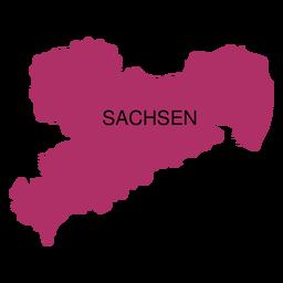 Mapa del estado de sajonia