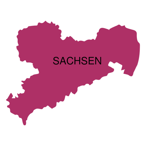 Saxony state map Transparent PNG