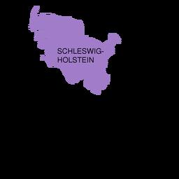 Mapa del estado de Schleswig Holstein