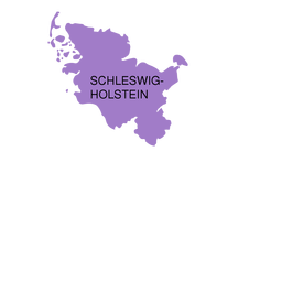 Schleswig holstein state map