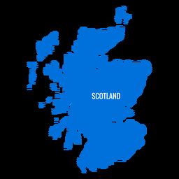 Mapa del pais de escocia