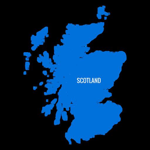 Mapa do país da Escócia Transparent PNG