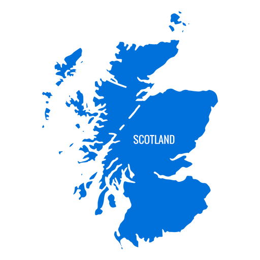 Scotland country map Transparent PNG