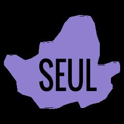Mapa da cidade metropolitana de Seul