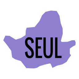 Mapa de la ciudad metropolitana de Seúl