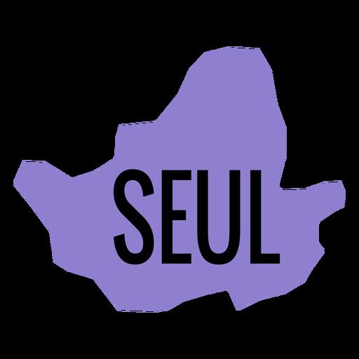 Mapa de la ciudad metropolitana de Seúl Transparent PNG