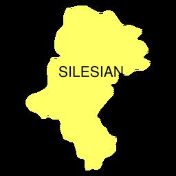 Mapa de voivodato de Silesia