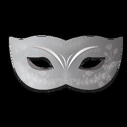 Máscara de carnaval floral prateada
