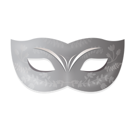 Silver floral carnival mask
