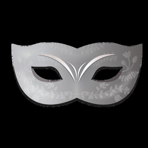 Máscara de carnaval floral prateada Transparent PNG
