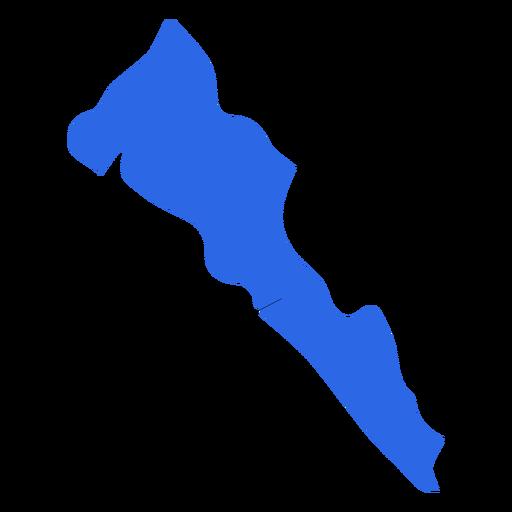 Mapa do estado de Sinaloa