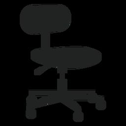 Icono plano de silla de oficina pequeña