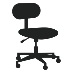 Small office chair flat icon