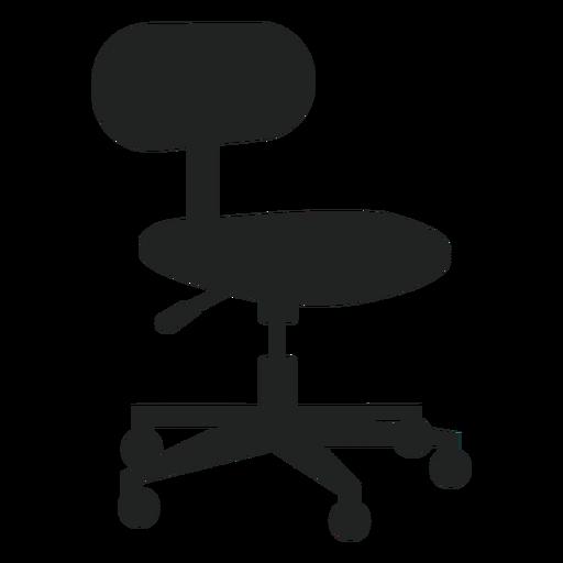 Pequeña silla de oficina plana icono Transparent PNG