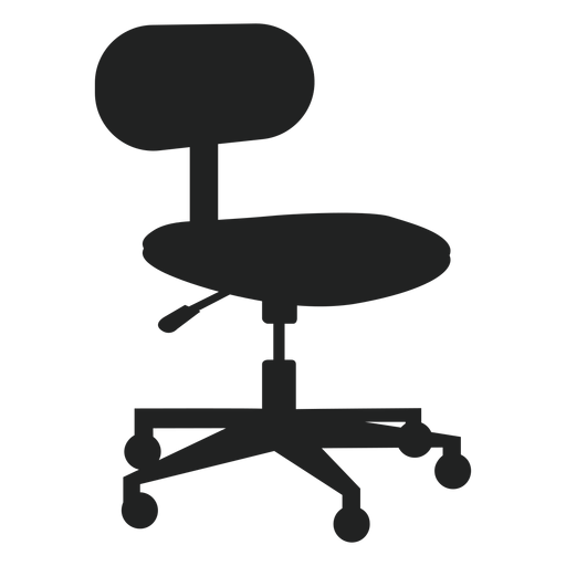 Small office chair flat icon - Transparent PNG & SVG ...