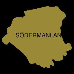 Mapa del condado de Sodermanland