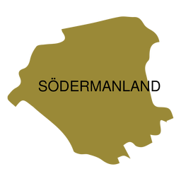 Sodermanland Grafschaftskarte