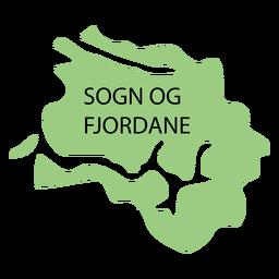 Mapa de condado de Sogn og fjordane