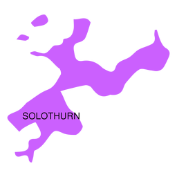 Solothurn canton map