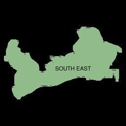 Mapa del distrito sur este