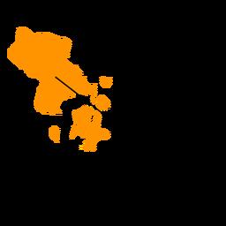 Mapa de la provincia sudeste sulawesi