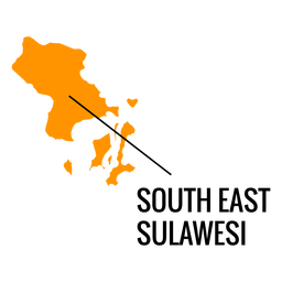 Mapa do sudeste da província de sulawesi