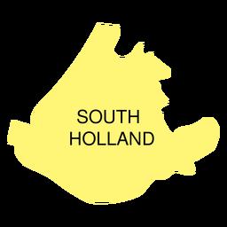 Mapa da província do sul da Holanda