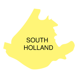 South holland province map