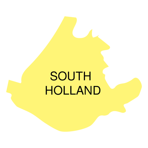 South holland province map Transparent PNG