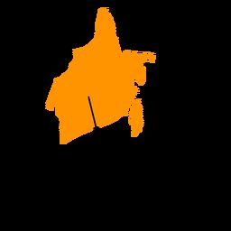 Mapa de la provincia de kalimantan del sur