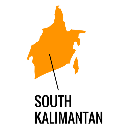 South kalimantan province map Transparent PNG