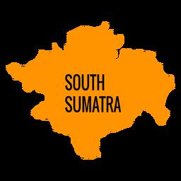 Mapa da província de Sumatra do Sul