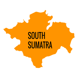 South sumatra province map