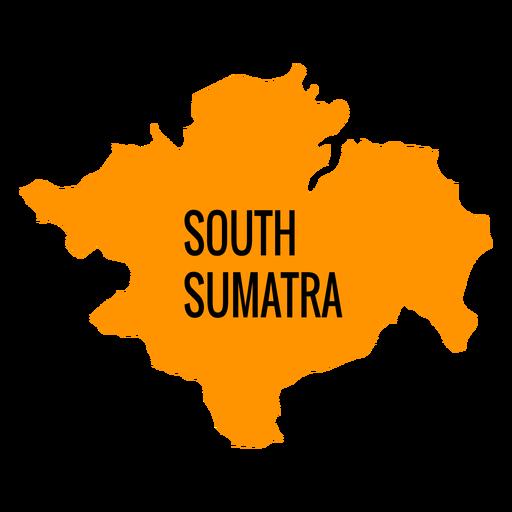 South sumatra province map Transparent PNG