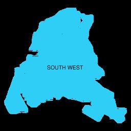 Mapa del distrito suroeste