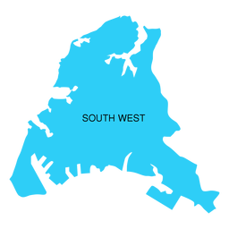 South west district map