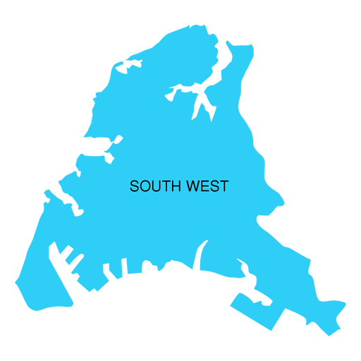South west district map Transparent PNG