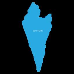 Mapa del distrito sur de israel