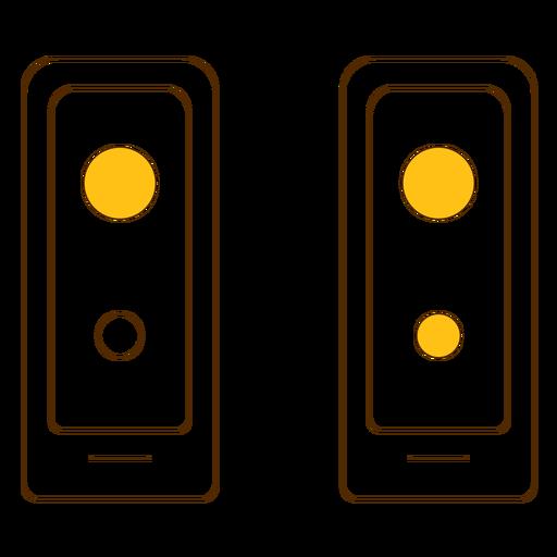 Ícone de linha fina de speakes Transparent PNG
