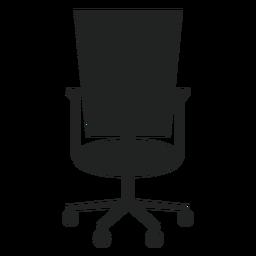Icono de silla de oficina con respaldo cuadrado