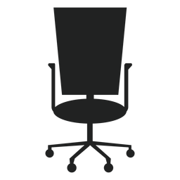 Square back office chair icon