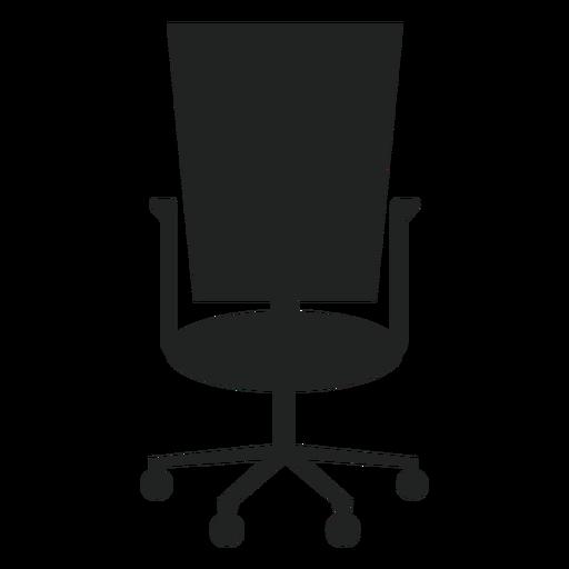 Icono de silla de oficina con respaldo cuadrado Transparent PNG